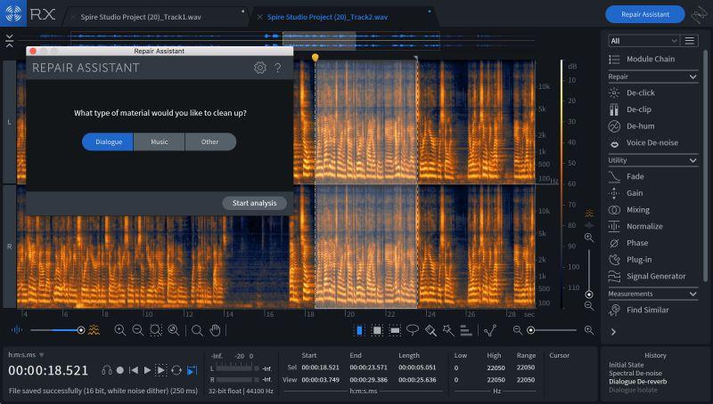 izotope RX repair assistant restauration audio