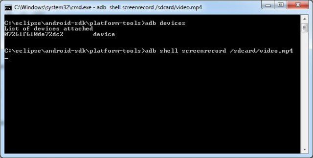adb shell screenrecord