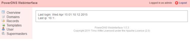 PowerDNS Webinterface