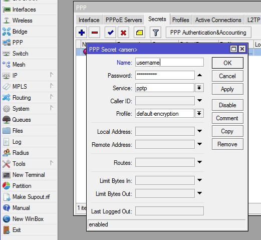 How to configure PPTP Server on MikroTik - Computer How To