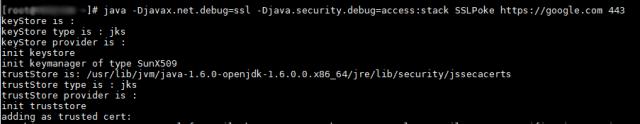 Java SSL debugging