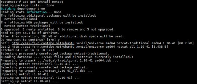 install netcat on Ubuntu