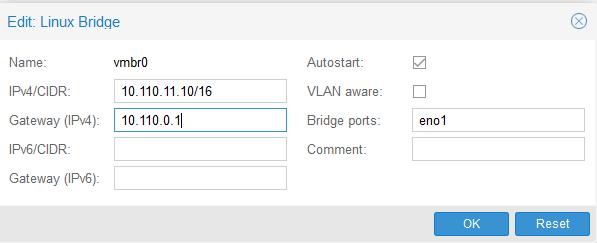 Proxmox Change IP Address