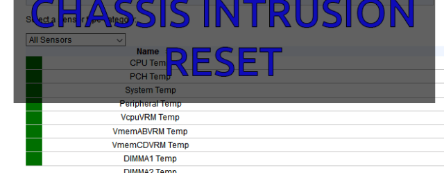 supermicro chassis intrusion reset
