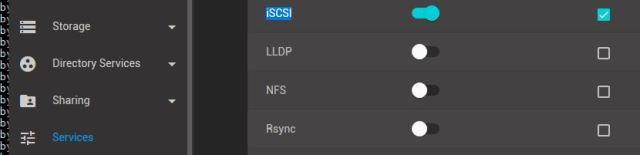 Enable iSCSI service