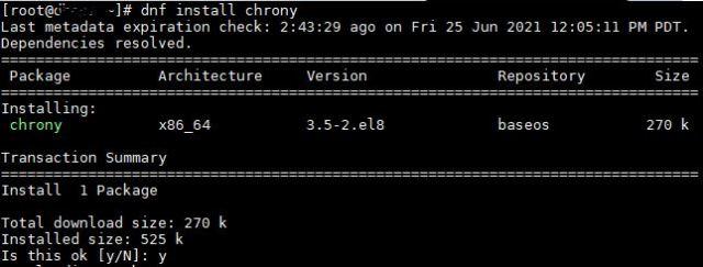 Install Chrony On CentOS 8