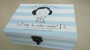 Cajas personalizadas para profes.