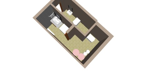 In a restricted one bathroom cum toilet area, I put in separating walls, dividing it into two bathrooms.