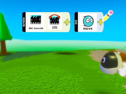 micro:bit és a KODU interakcióba lép