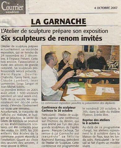 Courrier Vendéen – 4 oct 2007