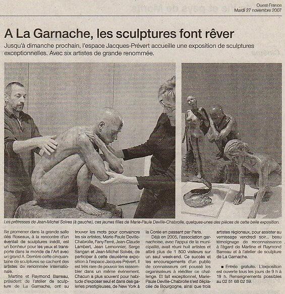 Ouest France – 27 nov 2007