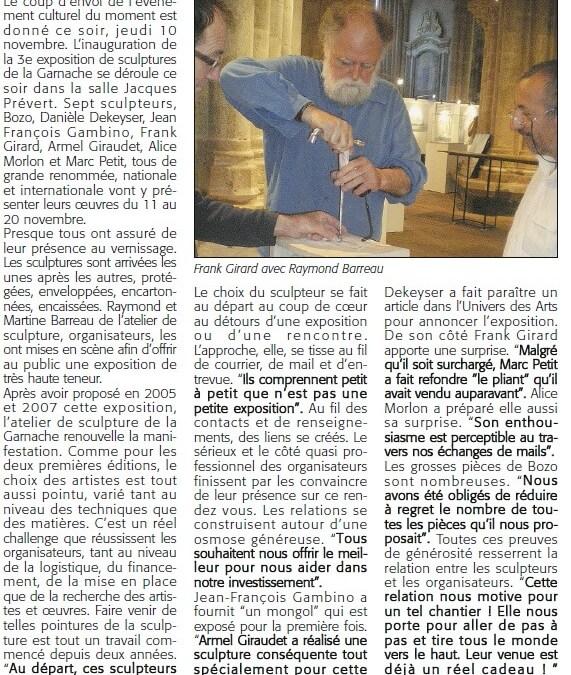 Courrier Vendéen – 10 nov 2011