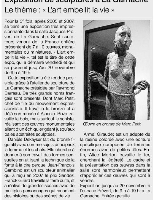 Ouest France – 13 nov 2011