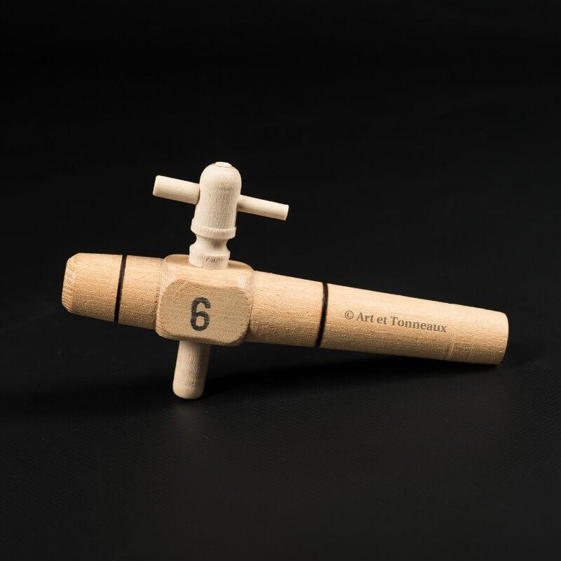 robinet 6 en bois pour tonneau art et tonneaux