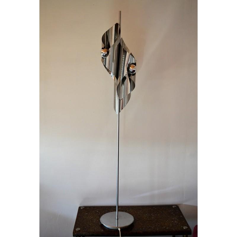 lampadaire vintage chrome des annees 70
