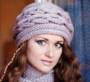 Объёмная шапка спицами: пошаговый мк с описанием и ...