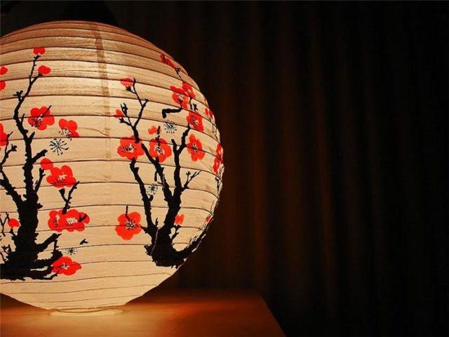 Kinesiske lanterne gør det selv: ordninger er vedhæftet