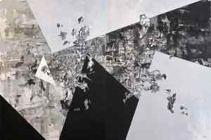 Peer Kriesel:Autokorrektur - Diptychon - Acryl auf Leinwand - 160cm × 240cm - 2018