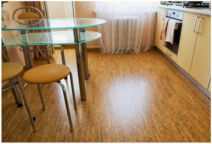 пробковый пол на кухню