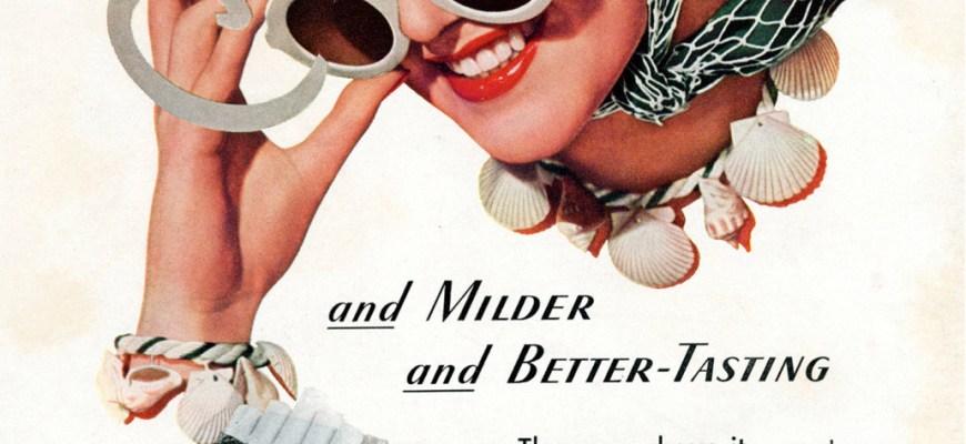 Старая реклама американских сигарет
