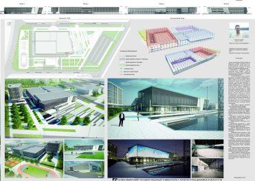 Проект хоккейного центра спортивного клуба Сибирь