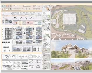 Принципы оригами в формировании зданий и сооружений с разработкой Южного автовокзала г. Екатеринбург