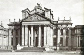 Гигантский ордер, суд фасаде дворца Бленхейм, Оксфордшир, Англия, сэр Джон Оксфорд, начали 1705