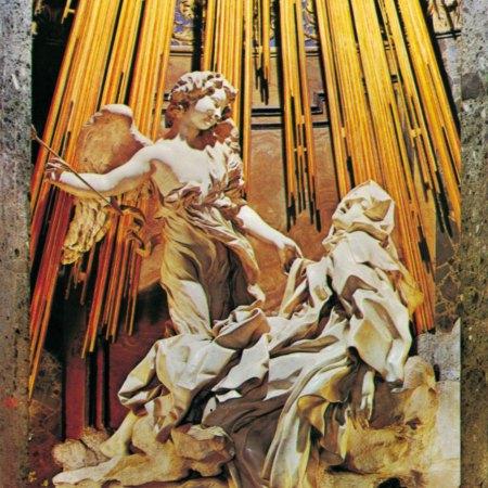 «Экстаз святой Терезы» , скульптура из мраморной и позолоченной бронзовой ниши Джана Лоренцо Бернини, 1645–52; в часовне Корнаро, Санта Мария делла Виттория, Рим.