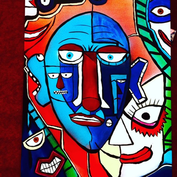 Paranoid by Tripl T - Acrylic on Canvas