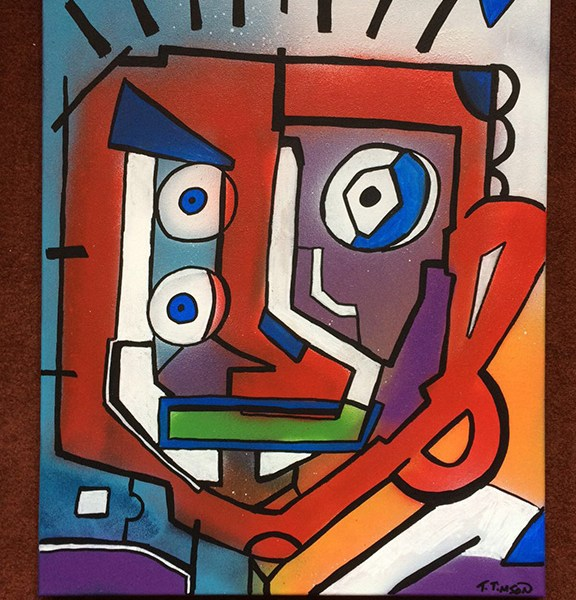 Two Faces by Triple T - Acrylic on Canvas
