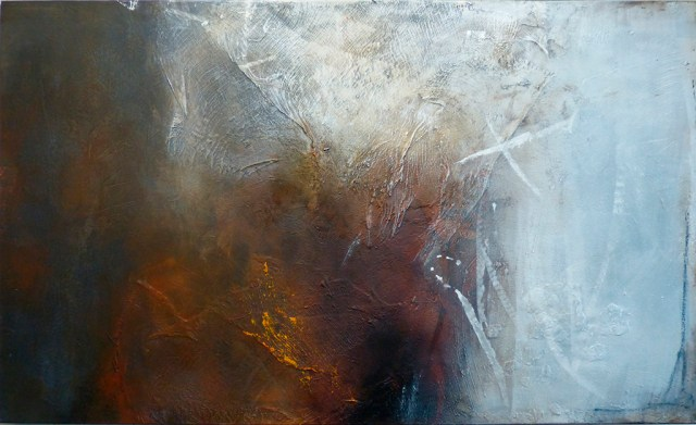 """Indian Summer 2 by Carole Kohler """"Dimension H 90 * W 150 * D 4.5 cm """" – Acrylic on Canvas – Mixed Media, natural fibers, and Pigments"""
