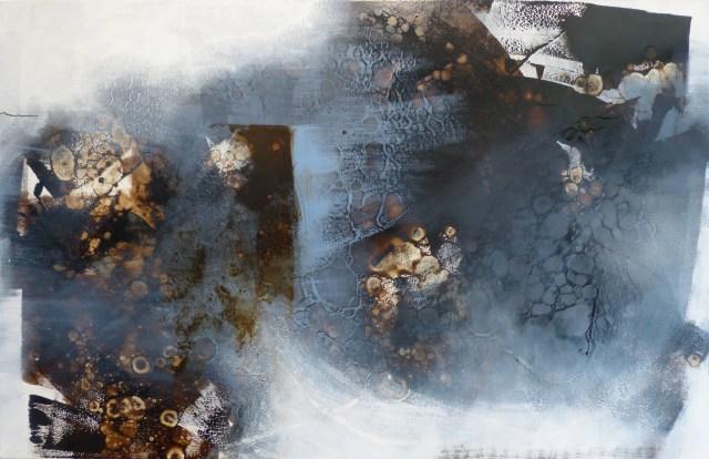 Rad-Schlag 2 by Carole Kohler - Series Rad-Schlag - W90 * H140 * D4.5 cm - Mixed media on canvas
