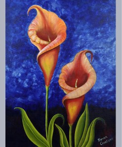 Handmade Painting - Lily a flower with a Life Colors