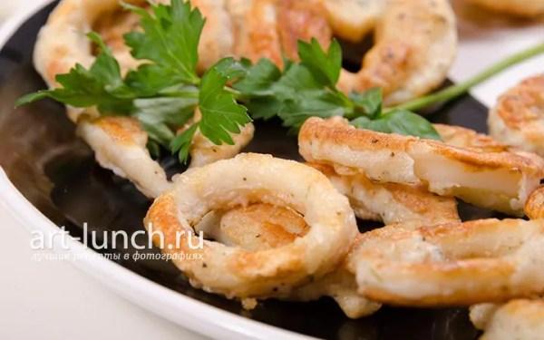 Кольца кальмара в кляре пошаговый рецепт с фото