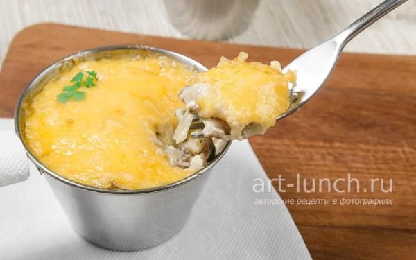 Жульен с курицей и грибами - пошаговый рецепт с фото