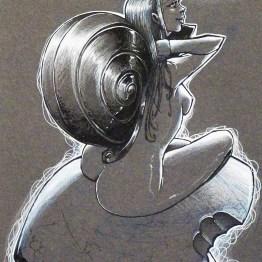 Femme escargot