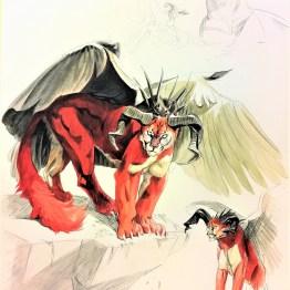 Aquarelle - Plume Dragon