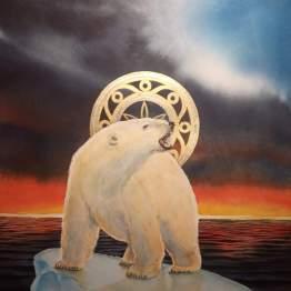 Aquarelle originale de Giemsi - L'ours - Galerie Art Maniak