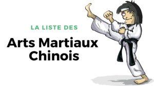 La liste des arts martiaux chinois