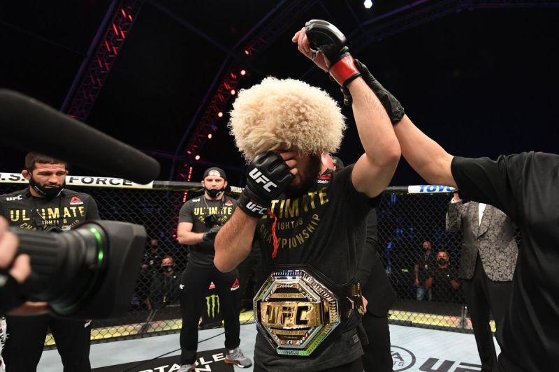 combat UFC Khabib en larmes