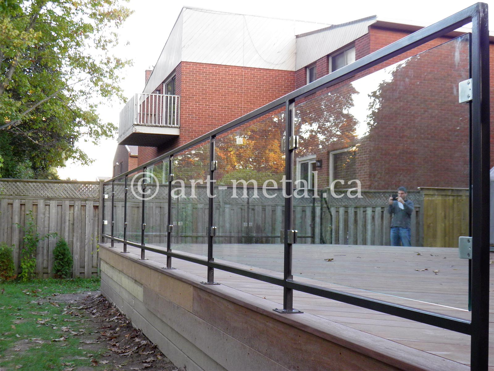 glass railings for decks in toronto and