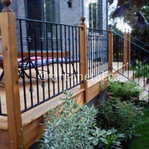 deck railing design ideas and material