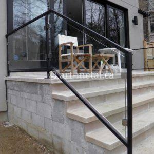 Modern Stair Railing Designs From Metal Wood Glass Etc | Modern Outdoor Stair Railing | Front Door | Outer | Cool | House | Craftsman Style