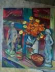 Natalya Moiseeva - Autumn evening oil on canvas 110*90