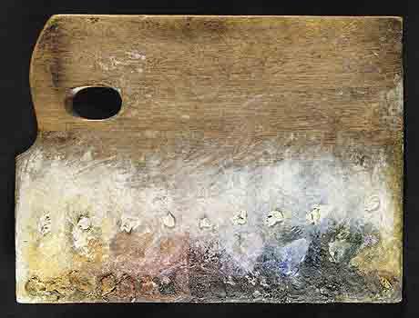 Неочищенная палитра Сера после написания картины La Grand Jatte