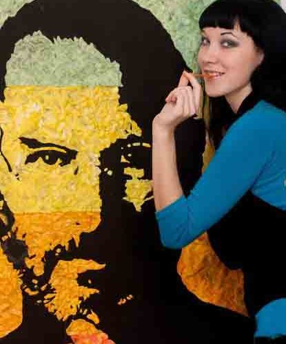 Портреты из жвачек от Анны Матвеевой
