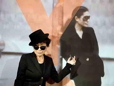 Ретроспектива работ японской художницы Йоко Оно во Франкфурте