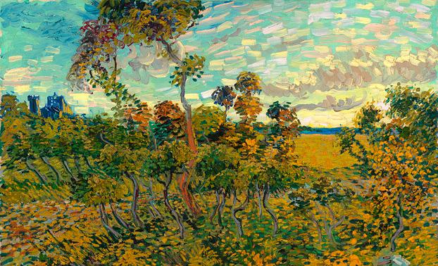 """Винсент Ван Гог. Sunset at Montmajour (""""Закат в Монмажуре""""), 1888"""