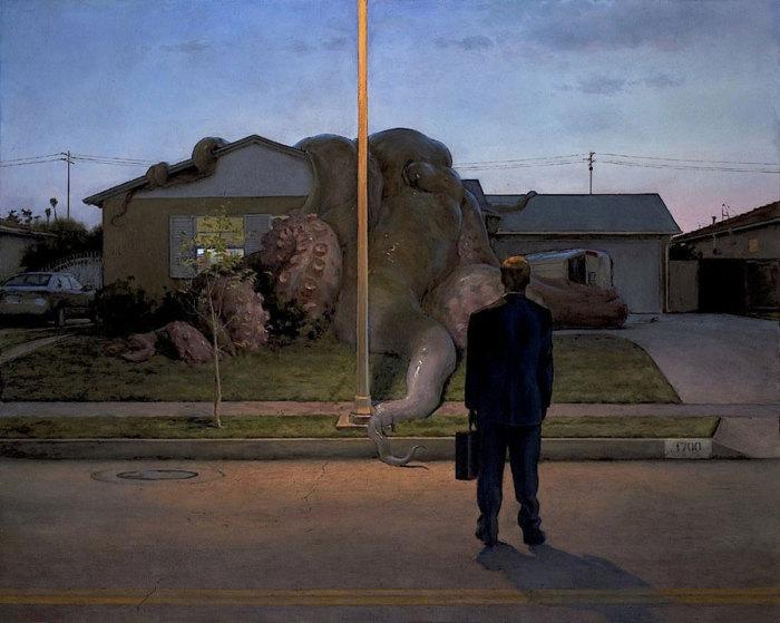 Немыслимые вещи в сюрреалистичных картинах Джона Брозио