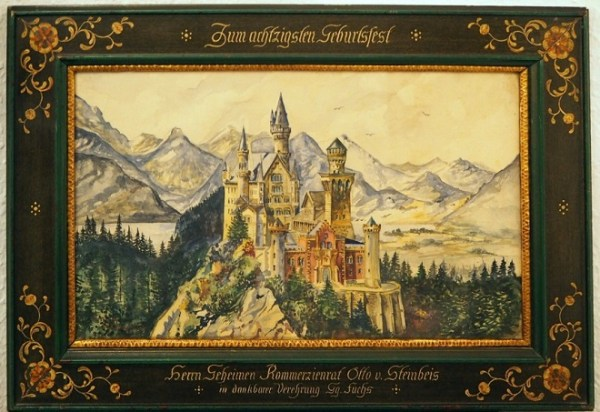 А. Гитлер. Изображение замка Нойшванштайн